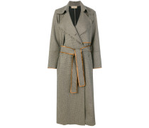 Ungesäumter Tweed-Trenchcoat