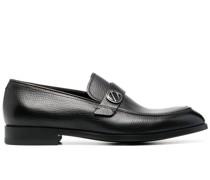 Loafer mit Logo-Schild