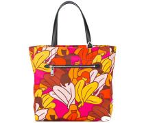 floral print tote - women - Leder/Nylon