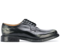'Shannon' Derby-Schuhe in Distressed-Optik