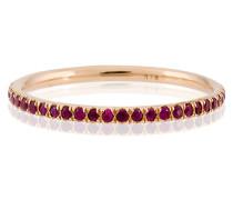 18kt 'Thread' Goldring mit Diamanten