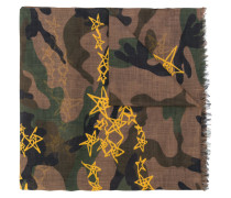 camouflage and stars scarf
