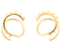 Vergoldete 'Klaxon Twirl' Ohrringe