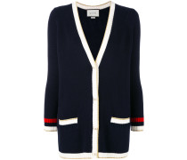 Embroidered oversize knit cardigan - women