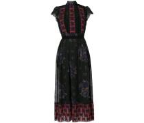 mixed print lacework dress
