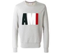 Sweatshirt mit dreifarbigem Logo