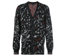 Cardigan mit Animal-Print