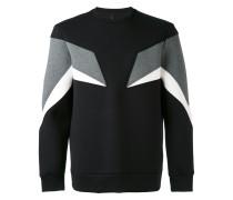 Dreifarbiges Sweatshirt