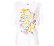 'Step Into Paradise' T-Shirt mit Print