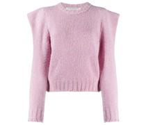 wide-shoulders wool jumper
