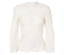 lace detail fitted jacket