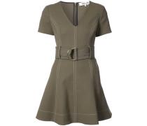 D-ring belt flared dress