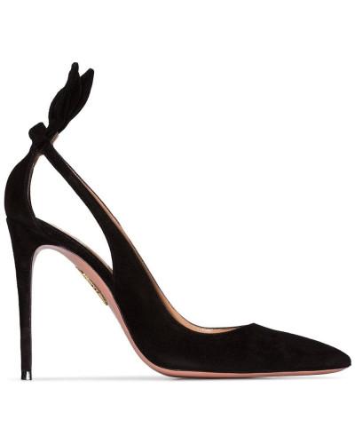 'Deneuve' Sandalen mit Schleife, 105 mm