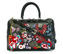 Handtasche mit Vogelstickerei