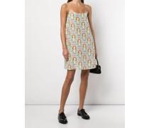 Banks Margot-print slip dress