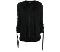zipped tassel-detail hoodie