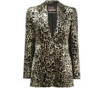 Jacquard-Blazer mit Leopardenmuster