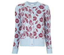 floral round neck cardigan