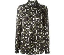 Seidenhemd mit Camouflage-Print - women - Seide