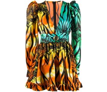 Minikleid mit tropischem Print
