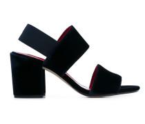 Samt-Sandalen mit Slingback-Knöchelriemen
