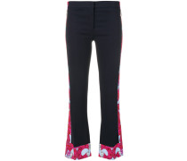 Barocco Istante trimmed trousers