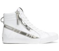 High-Top-Sneakers mit Metallic-Details