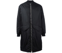 strap detail bomber coat