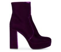 115 Velvet platform ankle boots