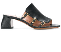 side buckle mules