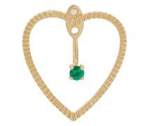 18kt 'Heart' Gelbgoldohrring mit Smaragd