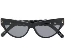 Cat-Eye-Sonnenbrille mit Kettendetail