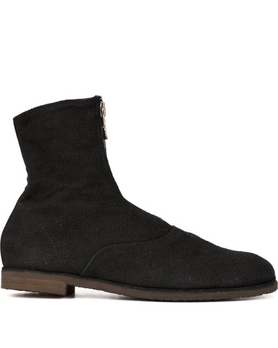 zip front ankle boots