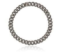 18kt Schwarzgold-Kettenarmband mit Diamanten