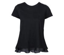 T-Shirt mit Spitzenapplikation