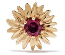 18kt 'Bouquet' Gelbgoldohrringe mit Rhodolith