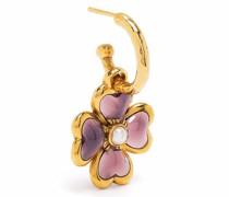 Talisman four-leaf clover single earring