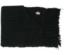 fringed knit scarf
