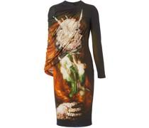 Cape-Kleid mit Print