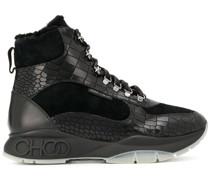 Hiking-Boots mit Kroko-Optik