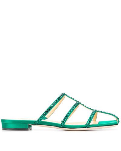 'Kaya' Sandalen mit Kristallen