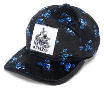 floral print patch cap