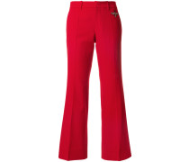 bee embroidered flared trousers
