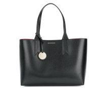 large charm-detail tote