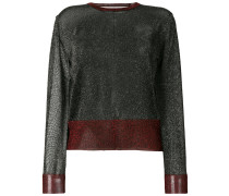 cropped fit lurex pullover