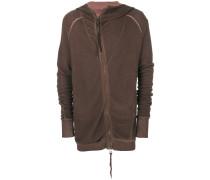 Asymmetrisches Sweatshirt mit Reißverschluss