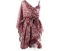 One-Shoulder-Kleid mit Metallic-Effekt