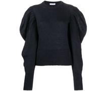 Pullover mit gerafften Schultern