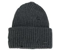 Gerippte Distressed-Mütze