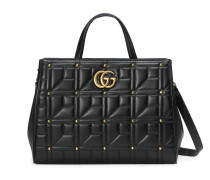 GG Marmont matelassé top handle bag
